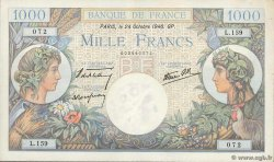 1000 Francs COMMERCE ET INDUSTRIE FRANCE  1940 F.39.01 XF-