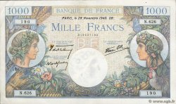 1000 Francs COMMERCE ET INDUSTRIE FRANCE  1940 F.39.02 pr.TTB