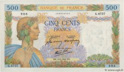 500 Francs LA PAIX FRANCE  1942 F.32.40 SUP+