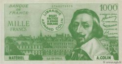 1000 Francs RICHELIEU Scolaire FRANCE regionalism and various  1964 F.(42)