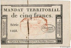 5 Francs Monval cachet rouge  FRANCE  1796 Ass.63c