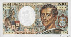200 Francs MONTESQUIEU  FRANCE  1985 F.70.05