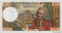 10 Francs VOLTAIRE  FRANCE  1969 F.62.40