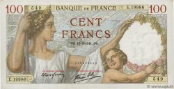 100 Francs SULLY  FRANCE  1941 F.26.48