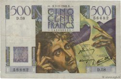 500 Francs CHATEAUBRIAND  FRANCE  1945 F.34.03