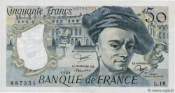 50 Francs QUENTIN DE LA TOUR  FRANCE  1980 F.67.06