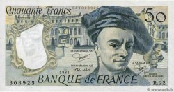 50 Francs QUENTIN DE LA TOUR  FRANCE  1981 F.67.07