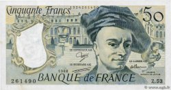 50 Francs QUENTIN DE LA TOUR  FRANCE  1988 F.67.14