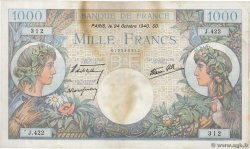 1000 Francs COMMERCE ET INDUSTRIE  FRANCE  1940 F.39.01