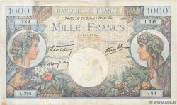 1000 Francs COMMERCE ET INDUSTRIE  FRANCE  1940 F.39.01 pr.TTB