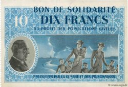 10 Francs BON DE SOLIDARITÉ  FRANCE regionalism and various  1941 KL.07B2