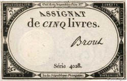 5 Livres  FRANCE  1793 Ass.46a