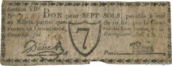 7 Sols  FRANCE regionalism and various Paris 1792 Kc.75.074