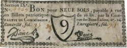 9 Sols  FRANCE regionalism and various Paris 1791 Kc.75.076
