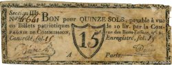 15 Sols  FRANCE regionalism and various Paris 1792 Kc.75.078