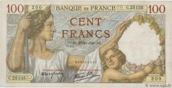 100 Francs SULLY  FRANCE  1941 F.26.59 TTB