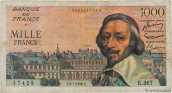 1000 Francs RICHELIEU  FRANCE  1956 F.42.21