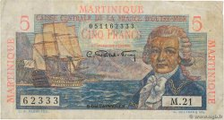 5 Francs Bougainville  MARTINIQUE  1946 P.27a