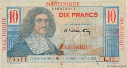 10 Francs Colbert  MARTINIQUE  1946 P.28