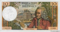 10 Francs VOLTAIRE  FRANCE  1973 F.62.64