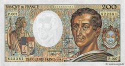 200 Francs MONTESQUIEU  FRANCE  1981 F.70.01
