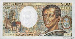 200 Francs MONTESQUIEU  FRANCE  1988 F.70.08