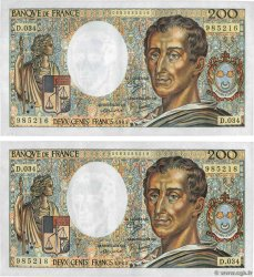 200 Francs MONTESQUIEU Lot FRANCE  1985 F.70.05