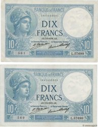 10 Francs MINERVE Lot FRANCE  1931 F.06.15