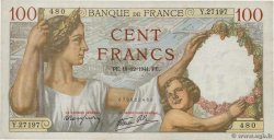 100 Francs SULLY  FRANCE  1941 F.26.63
