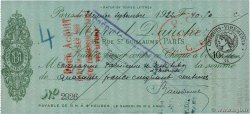 40,50 Francs  FRANCE regionalism and miscellaneous Paris 1922 DOC.Chèque
