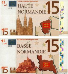 15 Euro Lot FRANCE regionalism and miscellaneous  2008