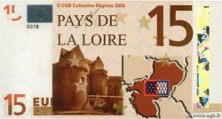 15 Euro  FRANCE regionalism and miscellaneous  2008