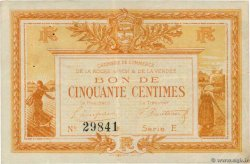 50 Centimes  FRANCE regionalism and miscellaneous La Roche-Sur-Yon 1915 JP.065.14
