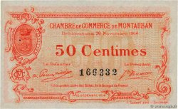 50 Centimes  FRANCE regionalism and miscellaneous Montauban 1914 JP.083.01