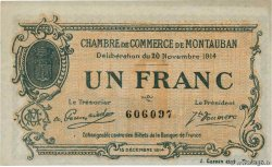 1 Franc  FRANCE regionalism and miscellaneous Montauban 1914 JP.083.06