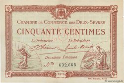 50 Centimes  FRANCE regionalism and miscellaneous Niort 1916 JP.093.06
