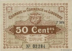 50 Centimes  FRANCE regionalism and miscellaneous Libourne 1915 JP.072.15