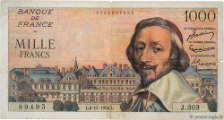 1000 Francs RICHELIEU  FRANCE  1956 F.42.24