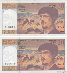 20 Francs DEBUSSY Modifié Lot FRANCE  1995 F.66ter.01