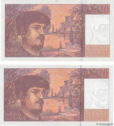 20 Francs DEBUSSY Modifié Lot FRANCE  1995 F.66ter.01 TTB+