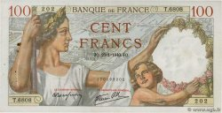 100 Francs SULLY  FRANCE  1940 F.26.21