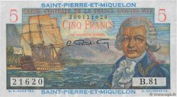 5 Francs Bougainville  SAINT PIERRE AND MIQUELON  1946 P.22