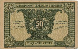 50 Cents  FRENCH INDOCHINA  1942 P.091a