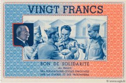 20 Francs BON DE SOLIDARITÉ  FRANCE regionalism and miscellaneous  1941 KL.08C3
