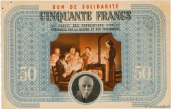 50 Francs BON DE SOLIDARITÉ  FRANCE regionalism and miscellaneous  1941 KL.09C2