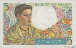 5 Francs BERGER  FRANCE  1943 F.05.01 pr.SPL