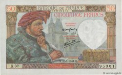 50 Francs JACQUES CŒUR  FRANCE  1941 F.19.05
