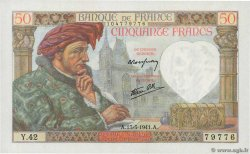 50 Francs JACQUES CŒUR  FRANCE  1941 F.19.07