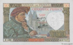 50 Francs JACQUES CŒUR  FRANCE  1942 F.19.18