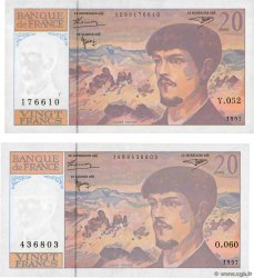 20 Francs DEBUSSY Modifié Lot FRANCE  1997 F.66ter.02